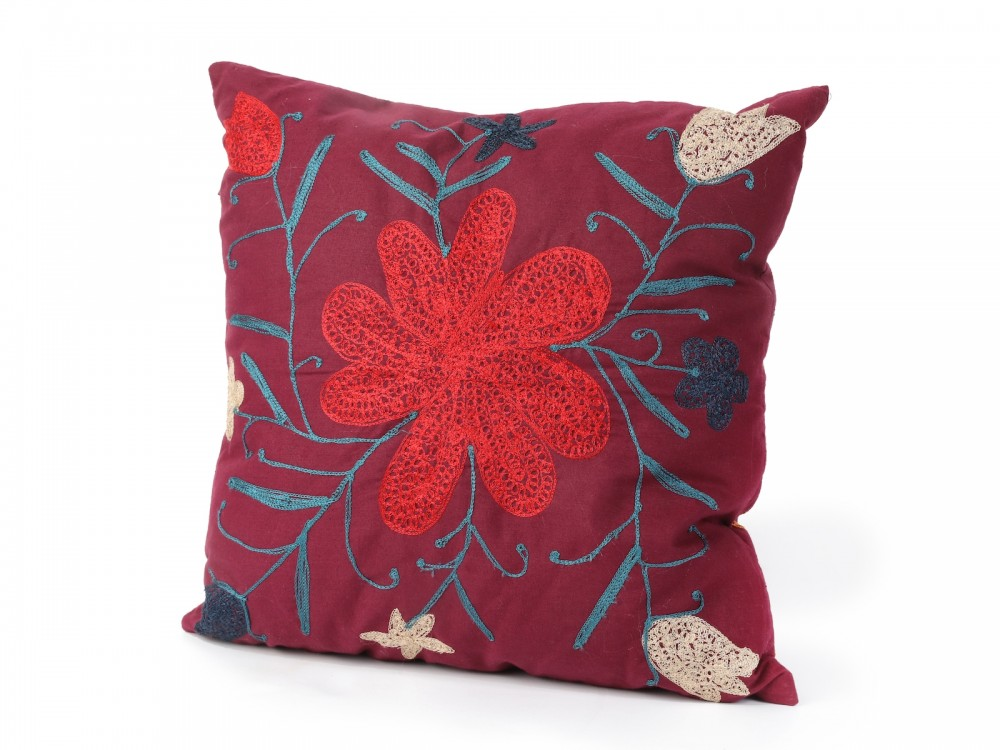 Squared Cushion With Free Embroidery
