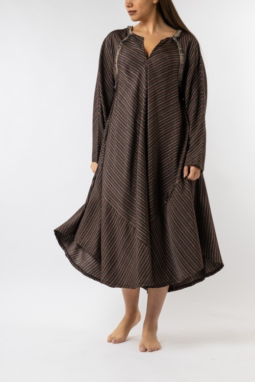 Diagonal Sayeh Dress with Sleeves