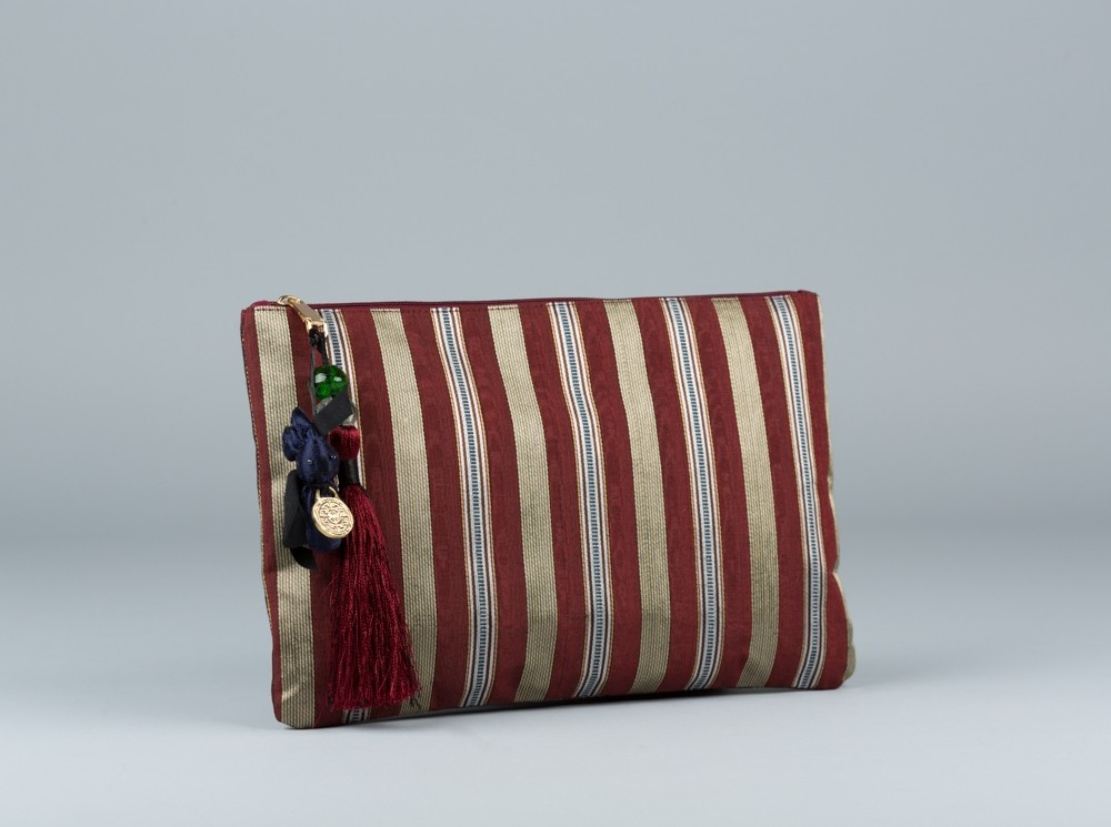 Burgundy Sayeh Clutch
