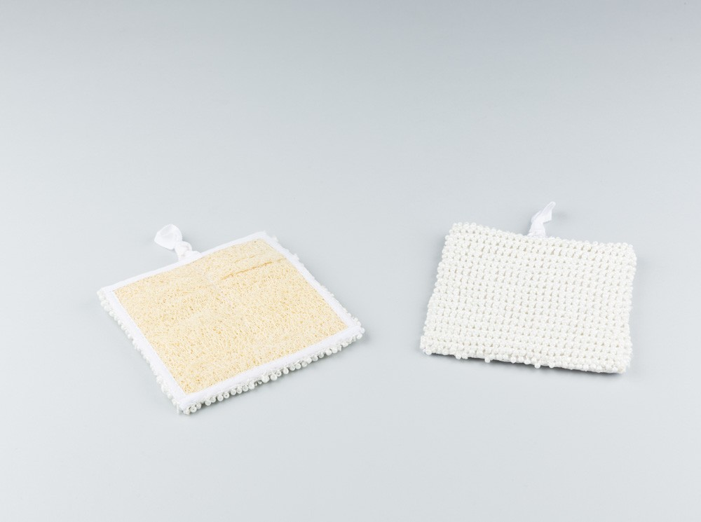 Square Loofah with Beads