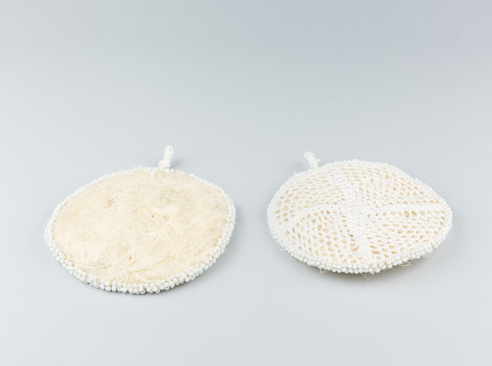Round Loofah with Beads