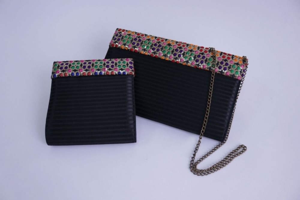 Evening Bag with Glitter