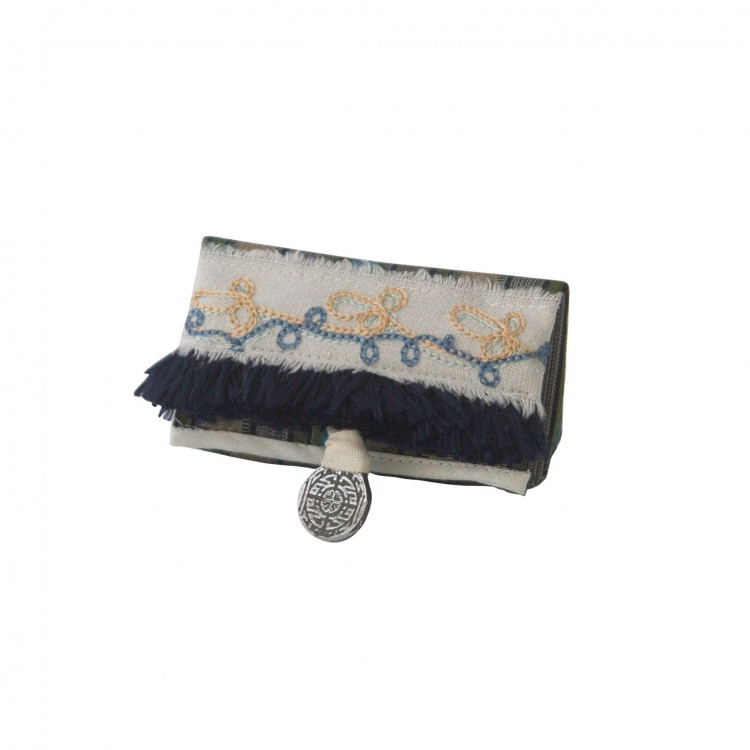 Lipstick Case with Fringe and Embroidery