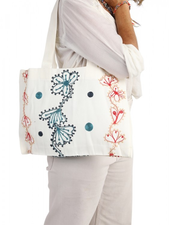 Canvas Tote Bag with Free Embroidery