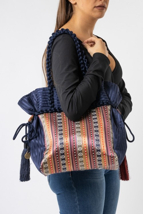 Sayeh Handbag Gathered with Cords on the Sides