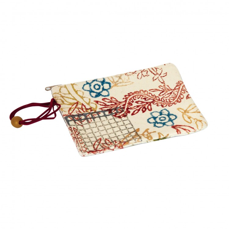 Pouch in Block Printed Canvas