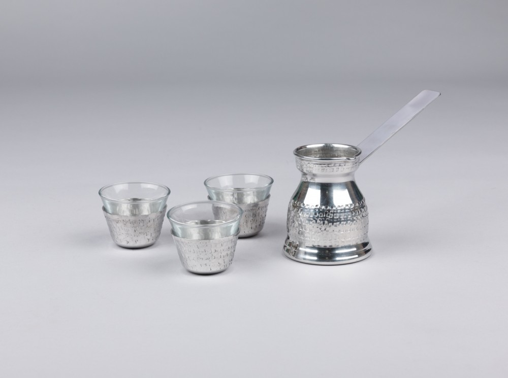 Hammered Aluminum Arabic Coffee Set