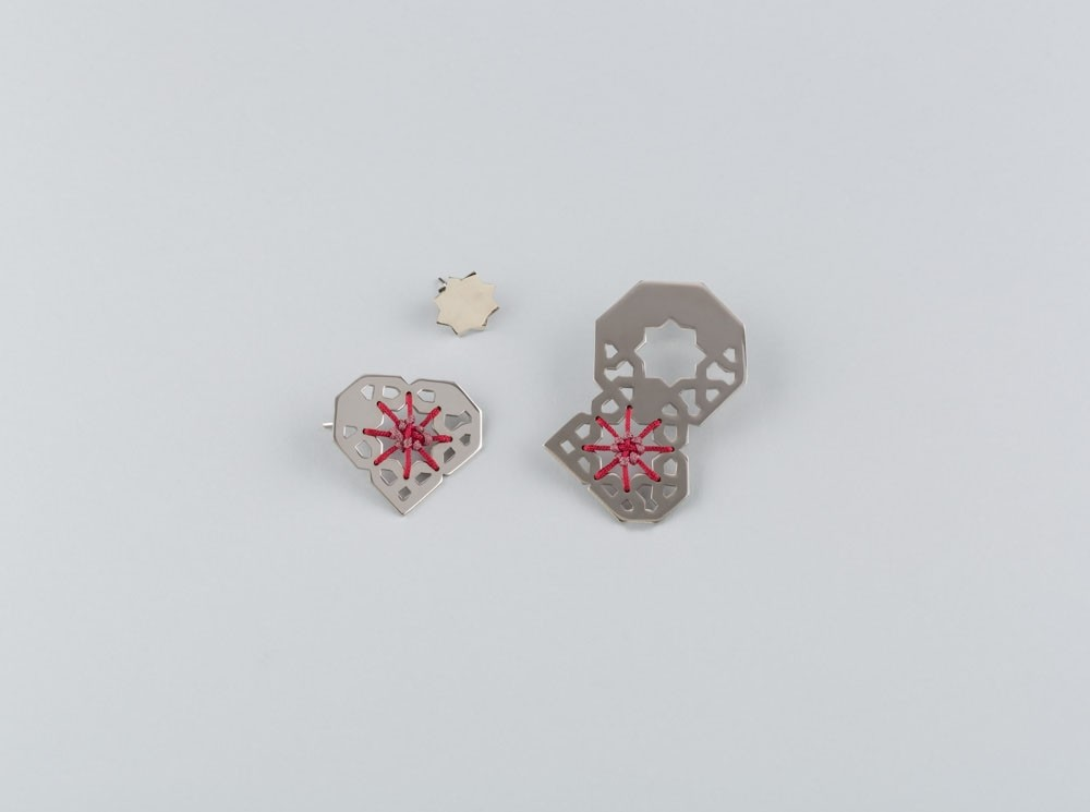 Machrabya 3-Piece Heart Earrings