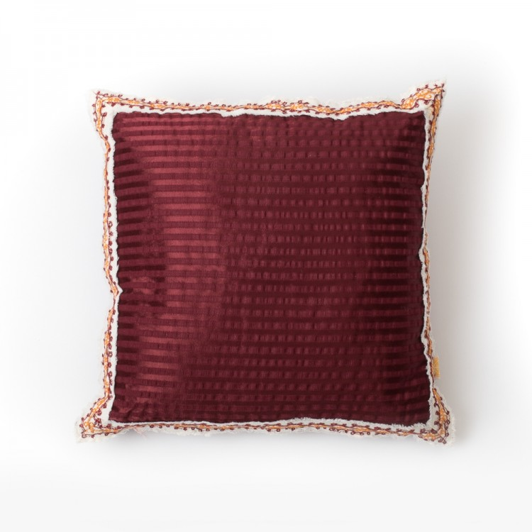 Sayeh Cushion With Floral Embroidery