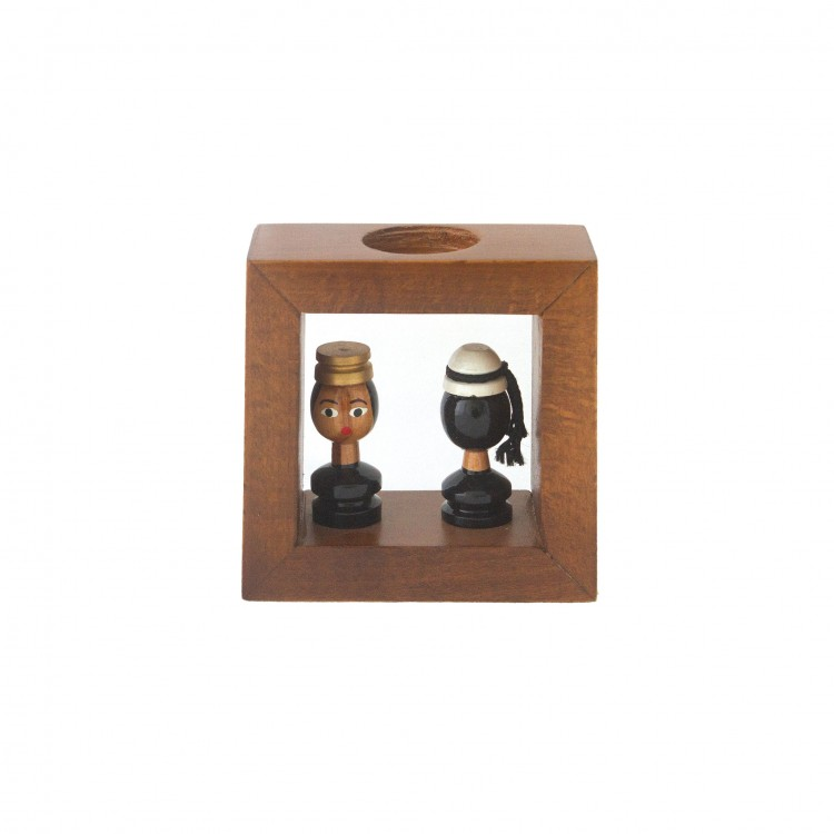 Candle Holder with Folk Characters