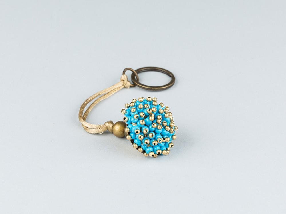 Blue Beads Keychain