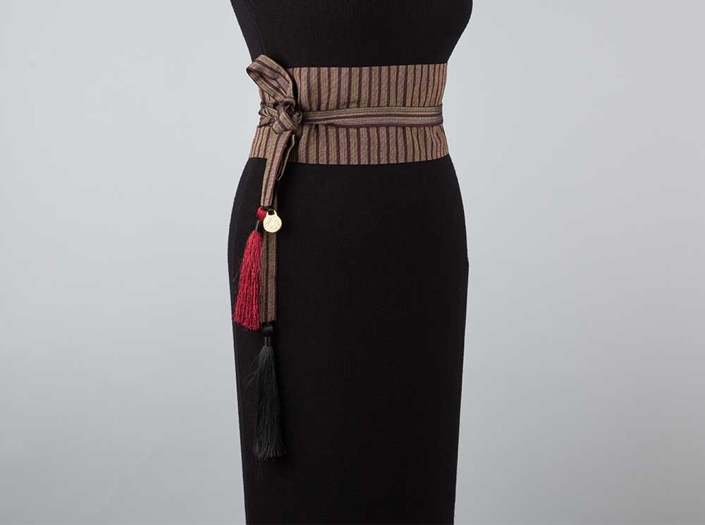 Brown Striped Sayeh Belt
