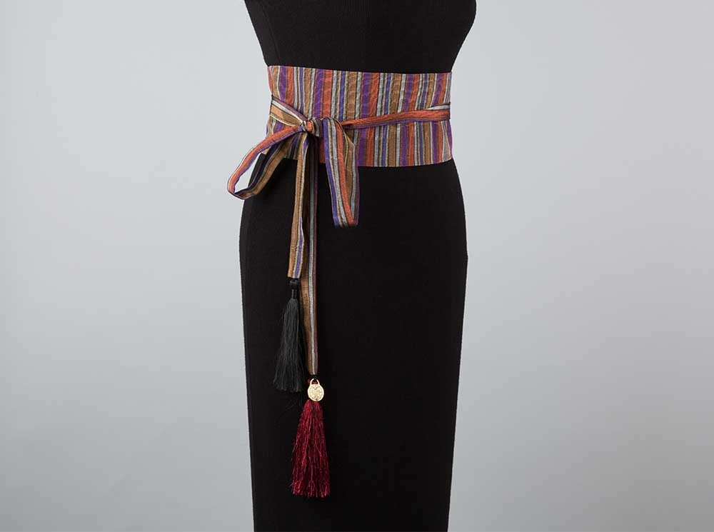 Purple Striped Sayeh Belt