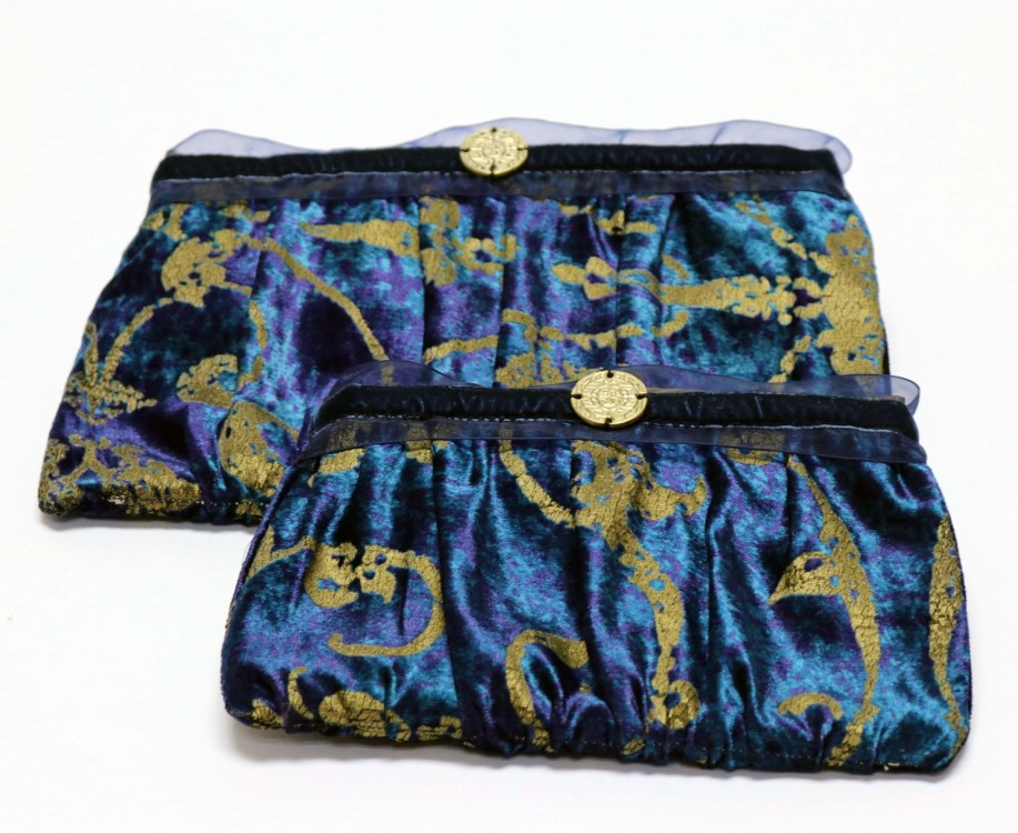 Velvet Pouch with Taffeta