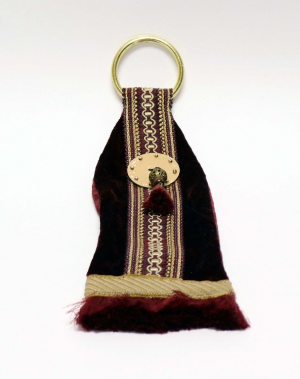 Velvet Charm with Sewing Braid and Fringe