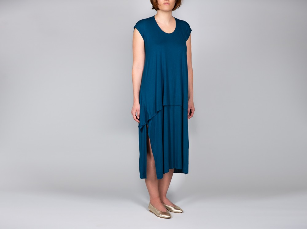 Petrol Blue Structured Dress