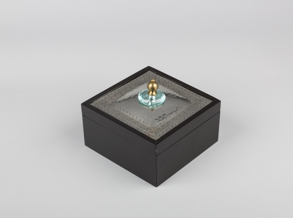 Wooden Teabox with Brass Top