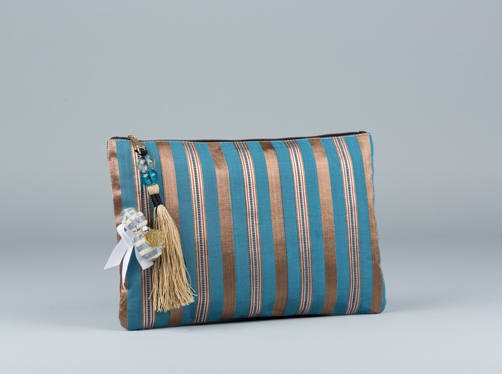 Blue Sayeh Clutch