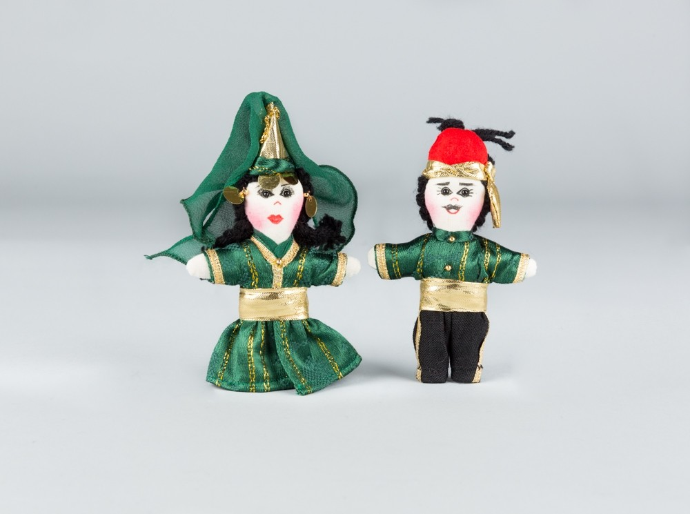 Small Green Folkloric Dolls