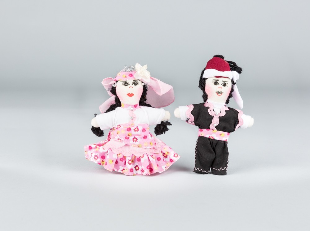 Small Pink Folkloric Dolls