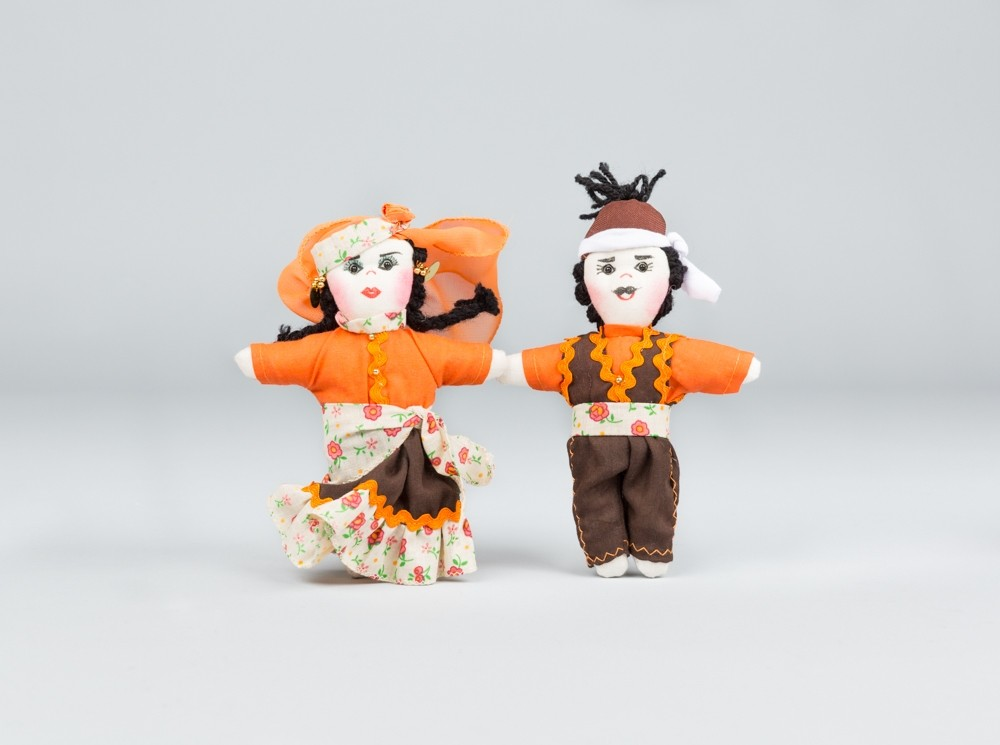 Medium Orange Folkloric Dolls