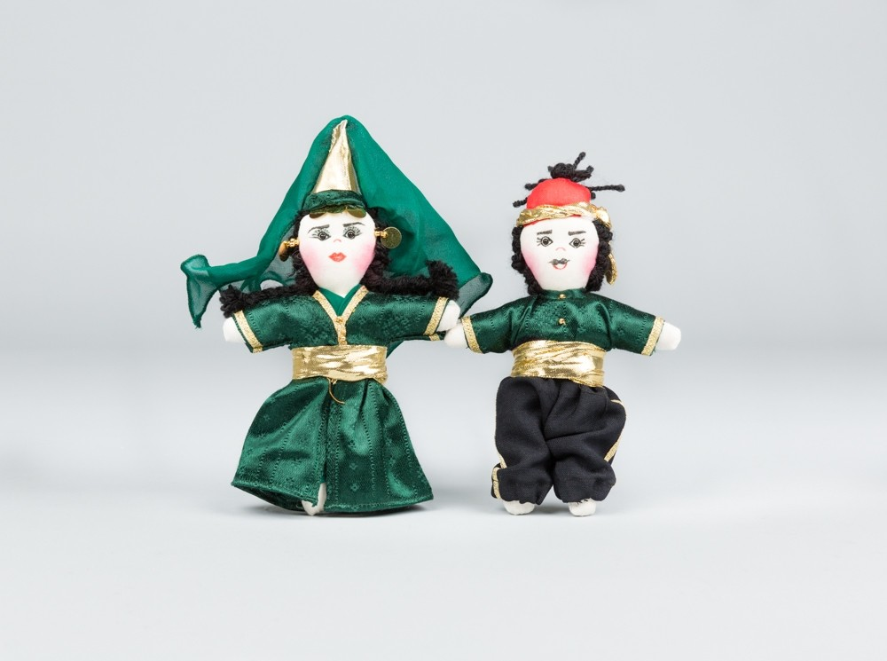 Medium Green Folkloric Dolls