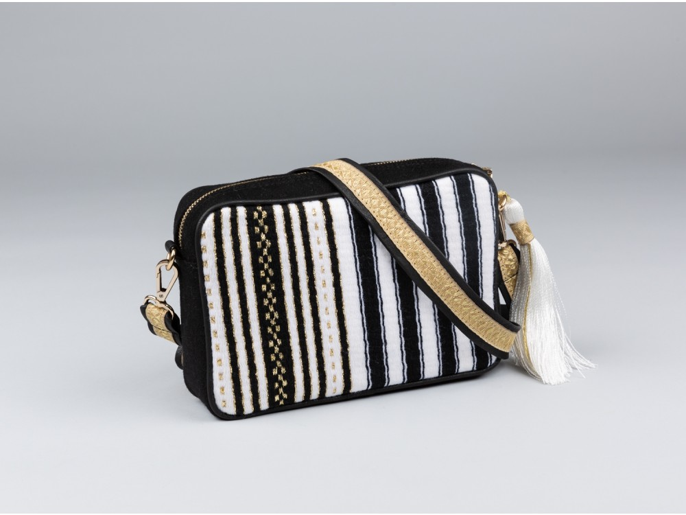 Black & White Shoulder-strap Bag