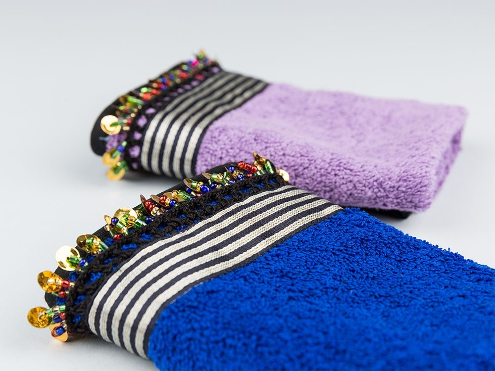 Hand Towel with Sayeh and Sequins